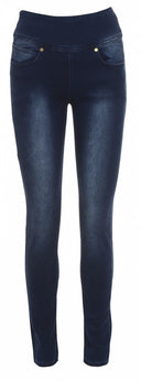 Zip High Waist Fitted Blue Jeans