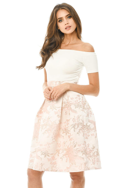 2 In 1 Printed Skater Skirt