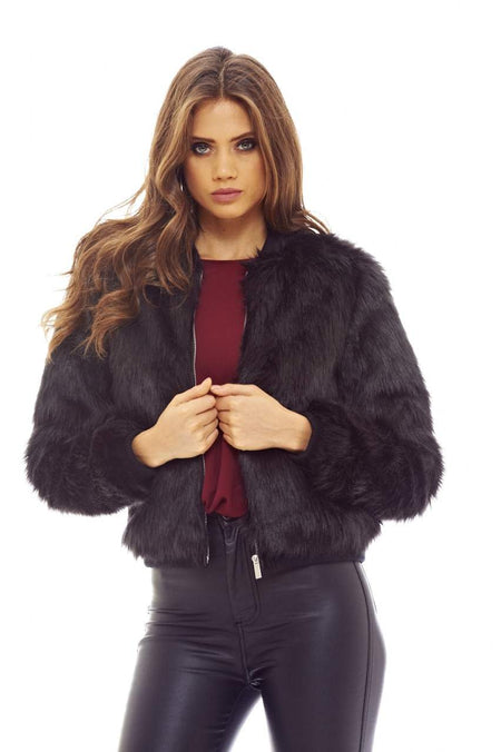 Multi Colour Faux Fur Coat