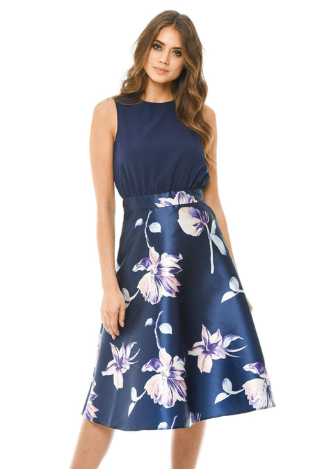 Navy Floral 2 in 1 Mini Dress