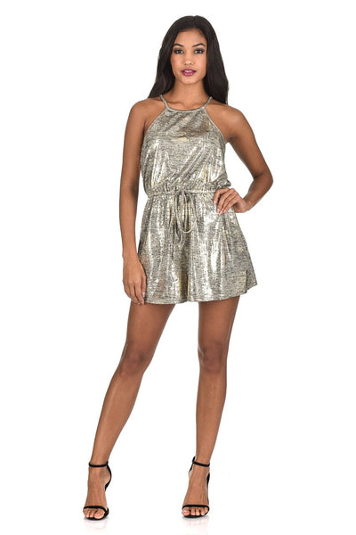 Gold Sparkly Playsuit