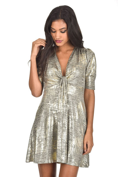 Gold Sparkly Knot Dress