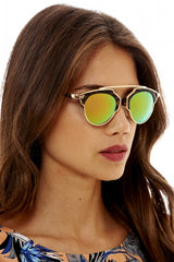 Open Frame             Reflective Sunglasses