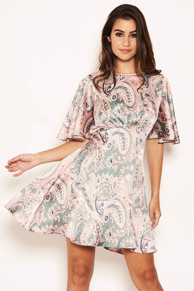 Paisley Printed Skater Dress