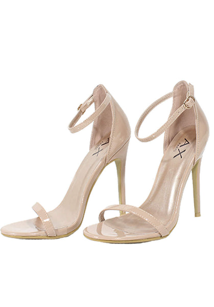 9a29f3b1392 Mocha Patent Barely There Heels