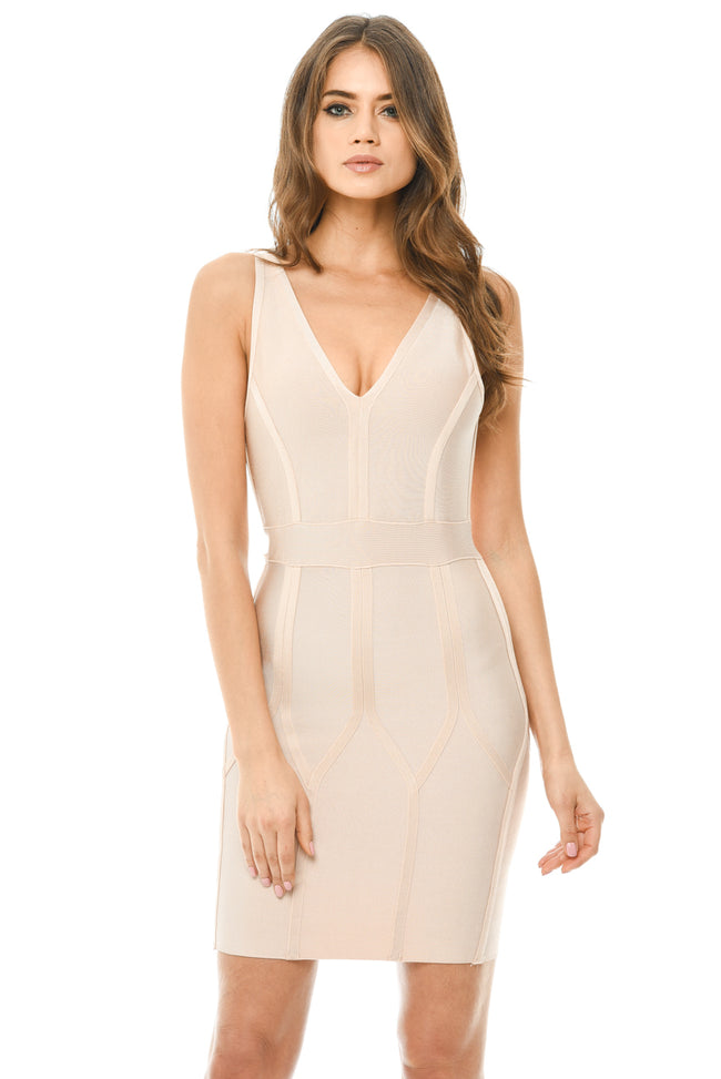 Nude Bodycon Bandage Dress