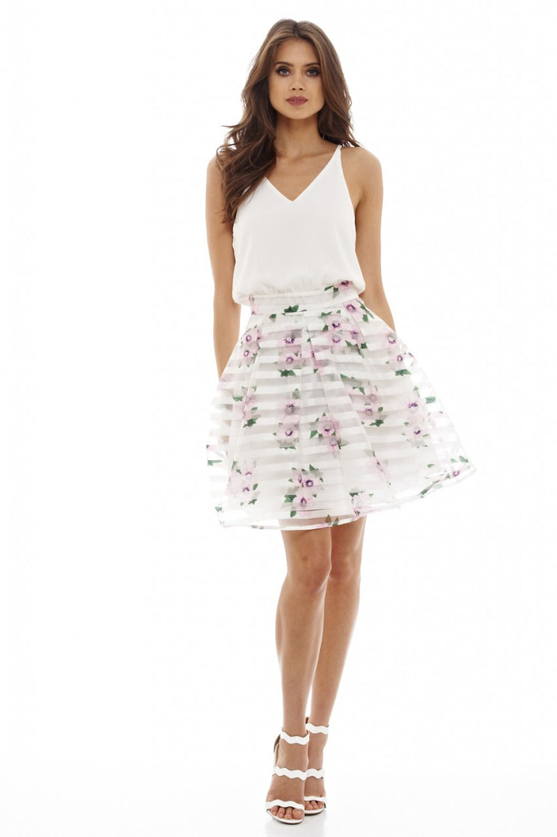 2 in 1 Printed Skater Dress