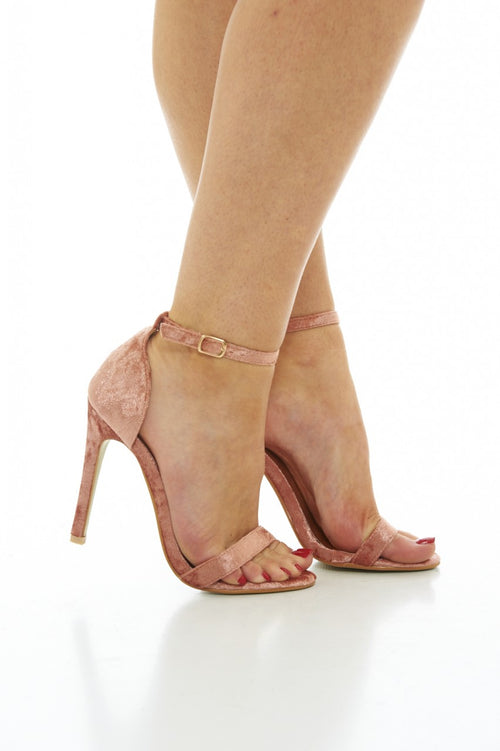 Rose-gold Simple strappy heels