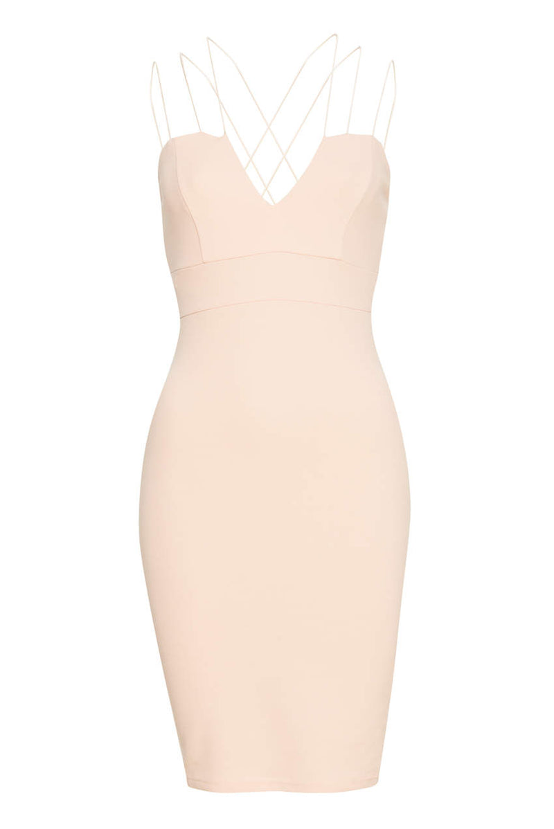 Blush Spaghetti Strap Bodycon Dress