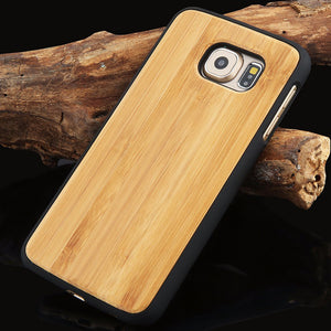 Genuine Bamboo Wood Hard Protector Cover For Samsung Galaxy S8, S6 edge