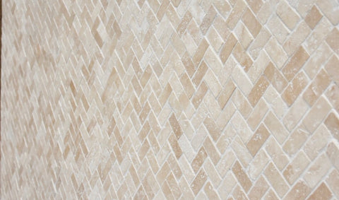 Travertine herringbone