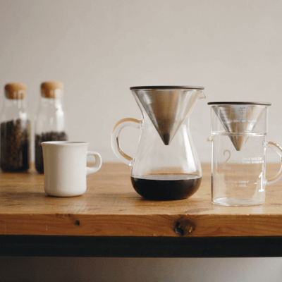Kinto SCS Coffee Carafe Stainless Steel Set - Maven Coffee Store
