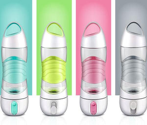 All-In-One Rechargeable Bottle With Reminder, Mist Spray And LED Light