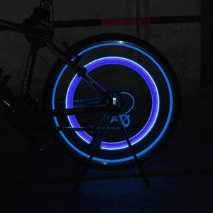 Car/Bike LED Wheel Caps 4 pcs