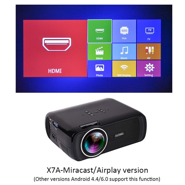 Mini USB projector android led beamer full hd video portable home cinema
