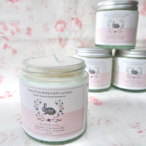 Exclusive Vegan Bunny Co. Soy Candle  - Roses & Violets - 120ml