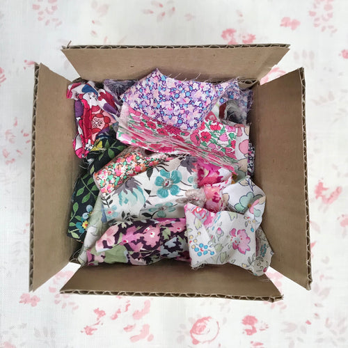 DeStash. Box Of Liberty Of London Tana Lawn Scraps - 53 grams