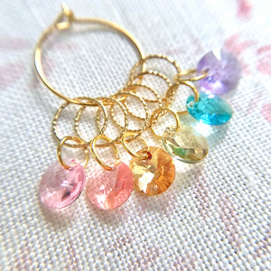 Swarovski Crystal Rainbow of Stitch Markers
