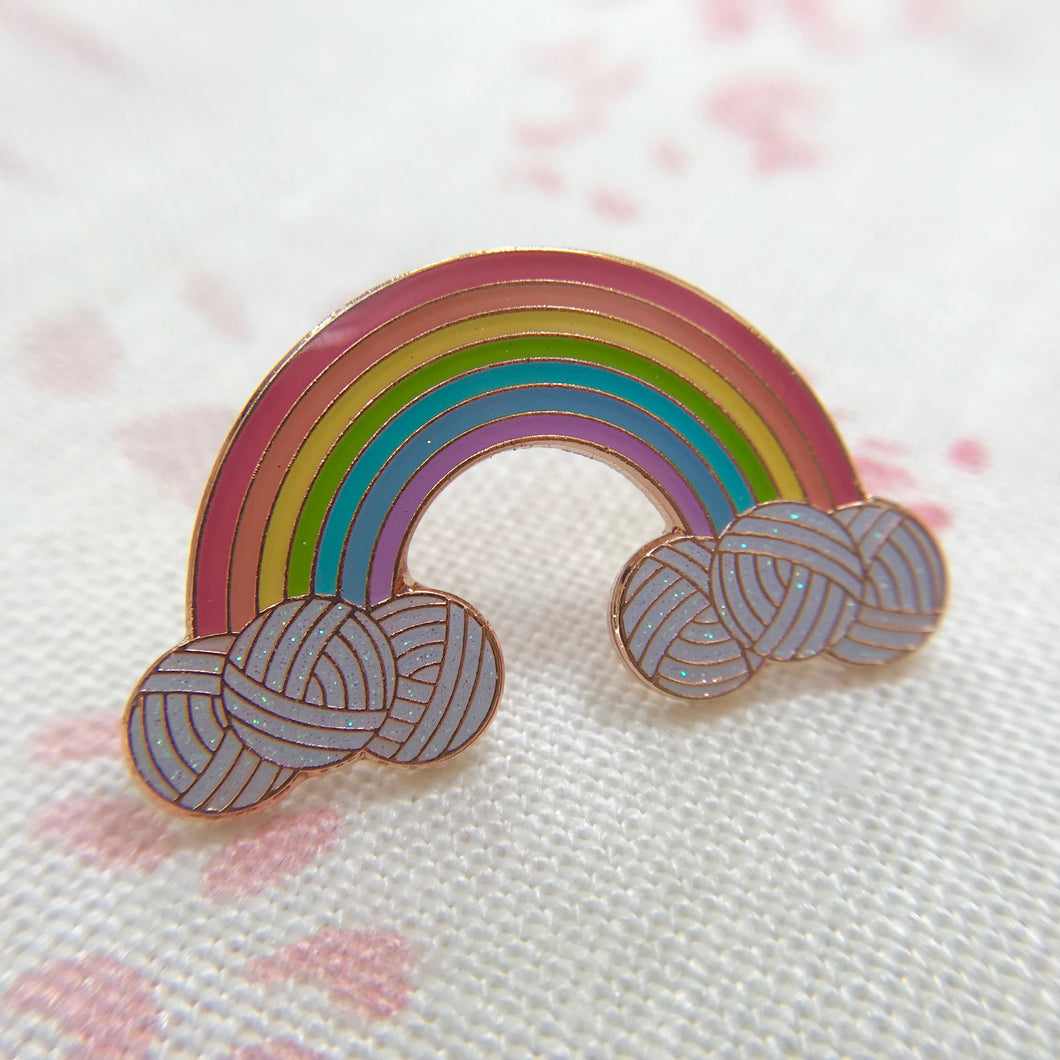 Yarn Rainbow Enamel pin