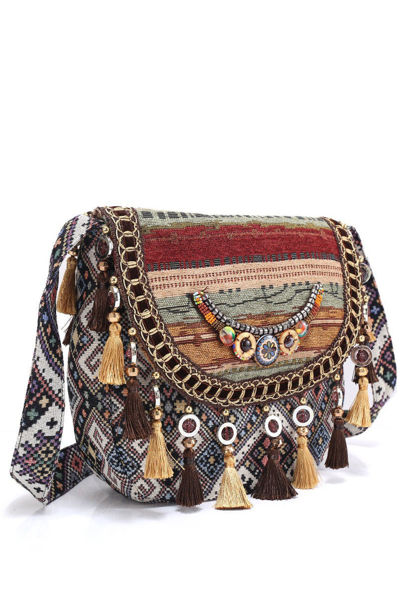 Artisan - Ethnic Cross-body In Two Colors - La Splendour