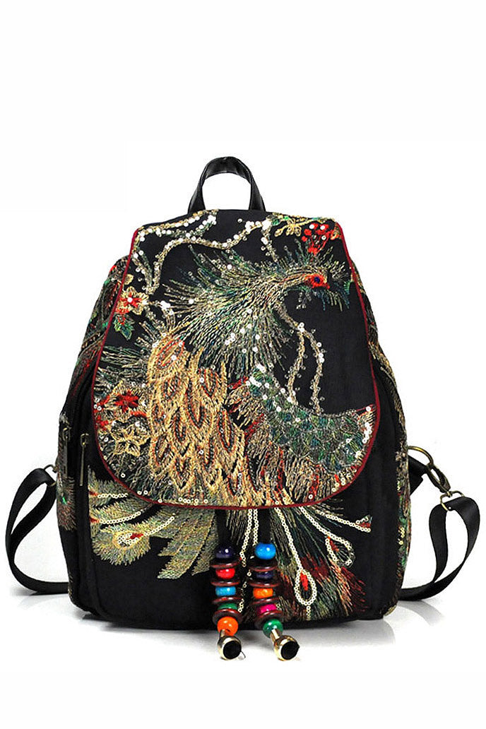 Dance-mate - Ethnic Embroidered Backpack - La Splendour
