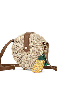 Daydreams - Cross-body Straw Bag In Two Sizes - La Splendour