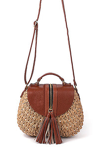 Lady D - Cross-body Straw Bag In Three Colors - La Splendour