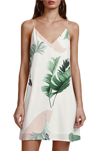 Palm Leaf - Mini Dress - La Splendour