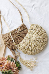 Cabin - Straw Cross-body In Two Colors - La Splendour