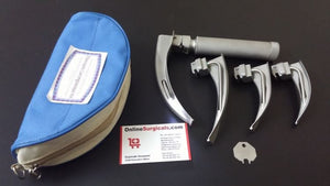 ONTEX Fiberoptic Adult Laryngoscope Kit With 4 Blades & Handle