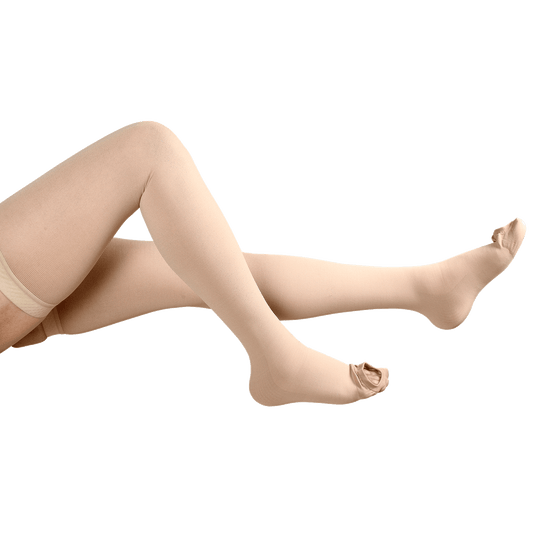 Ontex INSTEAD Anti-Embolism Stockings Thigh Length Cotton Beige Colour