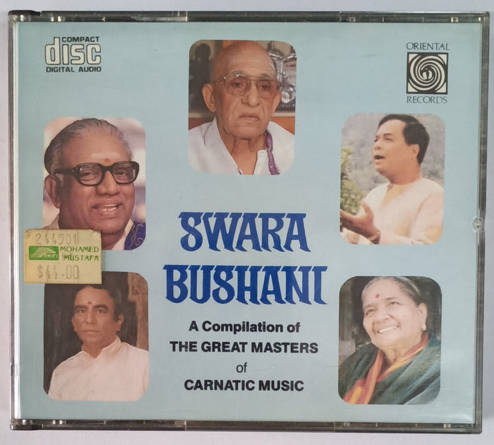 Swara Bushani ( A Compilation Of The Great Masters Of Carnatic Music ) Made In USA 2 Cds Pack