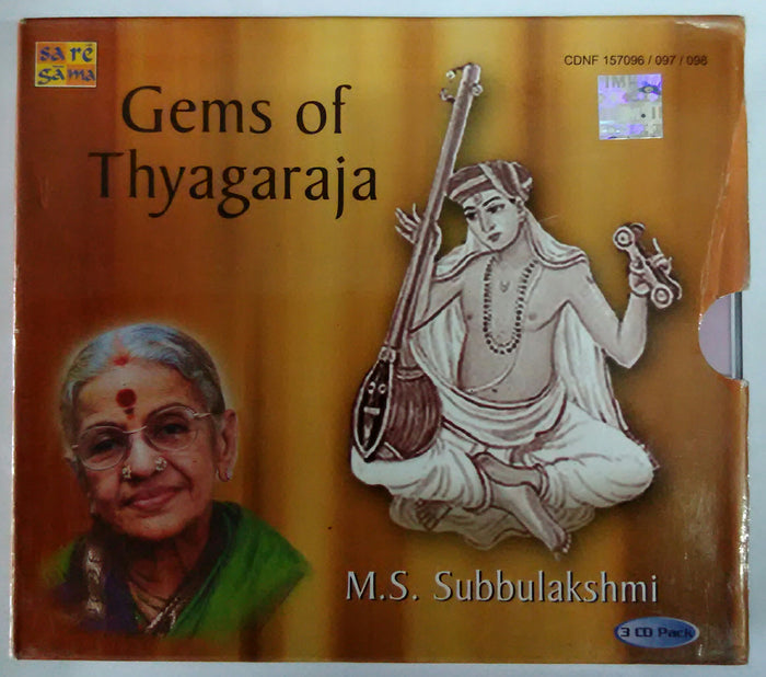 Gems Of Thyagaraja - M. S. Subbulakshmi Carnatic vocal 3,CDs Pack