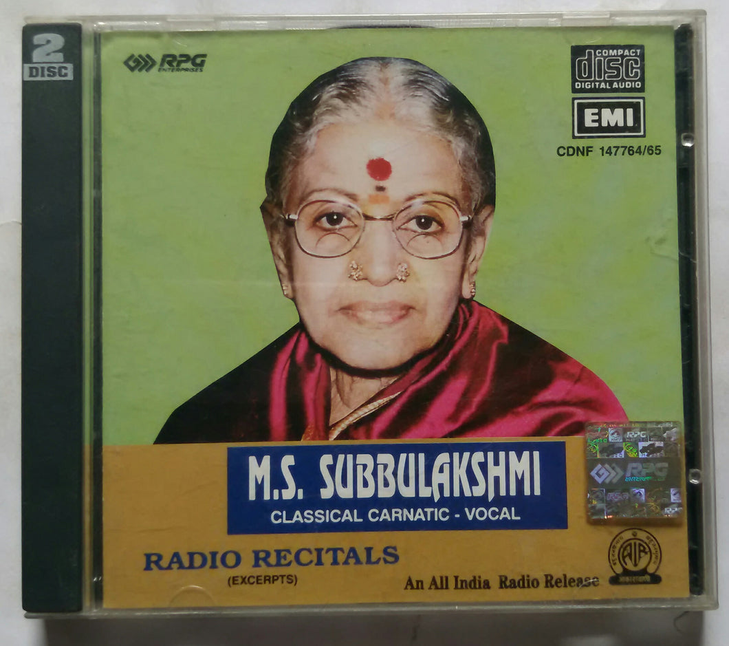 M. S. Subbulakshmi Classical Carnatic - Vocal ( Radio Recitals )