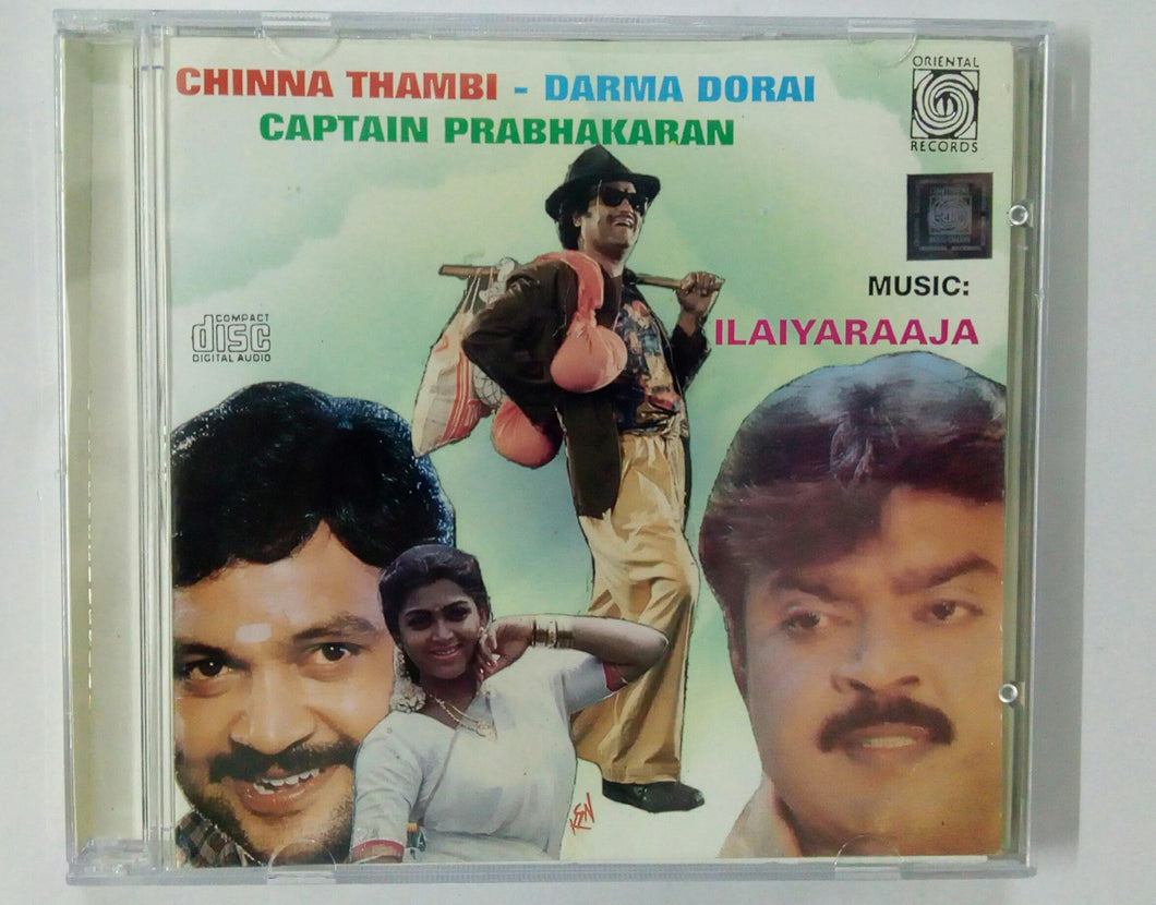 Buy tamil oriental audio cd of Chinna Thambi, Dharma Durai and Captain Prabhakaran online from avdigitals