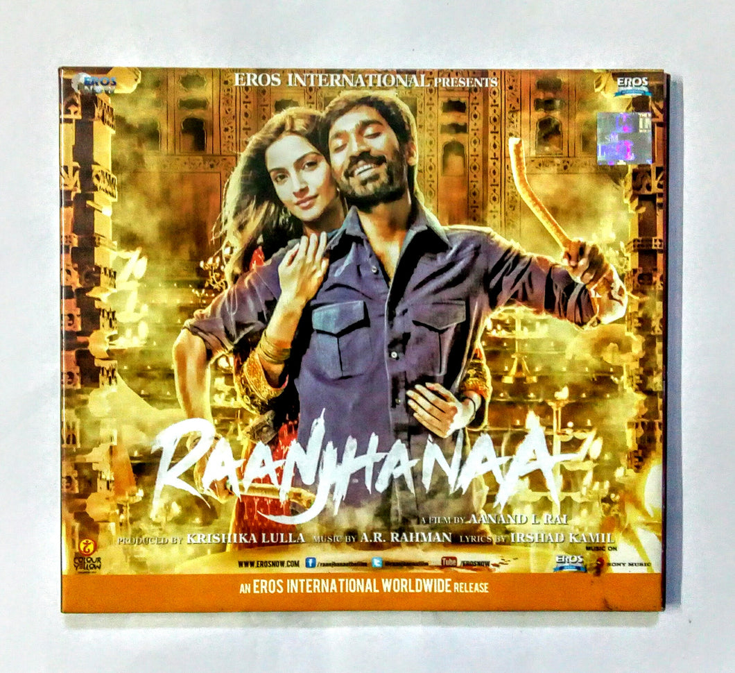 Buy Hindi audio cd of Raanjhanaa online from avdigitals. AR Rahman Hindi audio cd online.