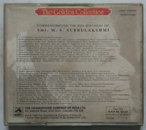 ( The Golden Collection ) Commemorating The 80 th Birthday Of Smt. M. S. Subbulakshmi