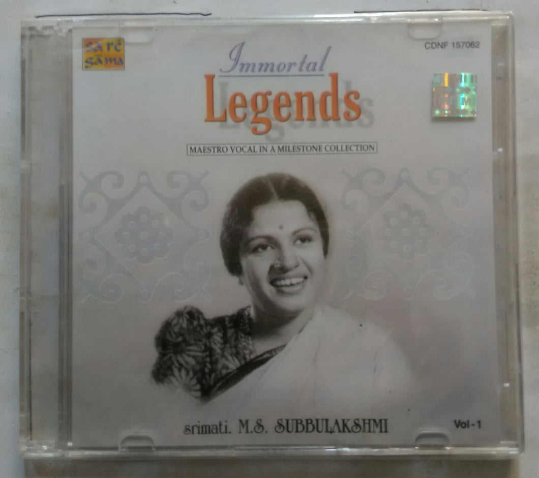 Immortal Legends Maestro Vocal In A Milestone Collection Srimati. M. S. Subbulakshmi Vol -1