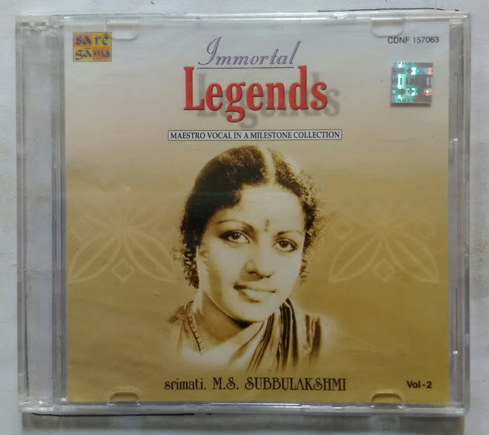 Immortal Legends Maestro Vocal In A Milestone Collection Srimati. M. S. Subbulakshmi Vol -2