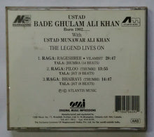"Ustad Ghulam Ali Khan "" Born 1902 "" With Ustad Munawar Ali Khan - The Legend Lives No"