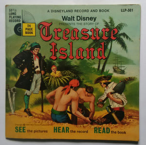 Walt Disney's Presents The Story Of Treasure Island ( 24 Page Book , 33 / RPM )