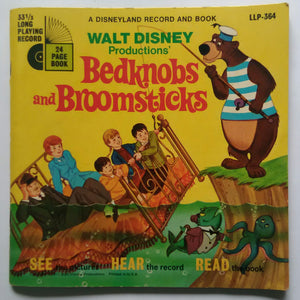 "Walt Disney Productions - Bedknobs And Broomsticks "" A Disneyland Record And Book "" ( 33/ RPM , LP )"