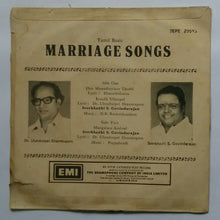 "Marriage Sonhs "" Tamil Basic "" ( EP 45 RPM )"