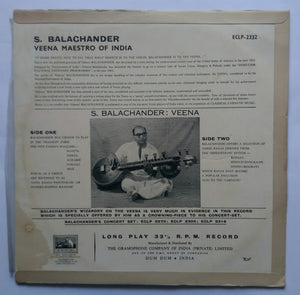 "S. Balachanden - The Wizara On The Veena "" Carnatic "" Ragas "" Hindusthani "" Ragas"