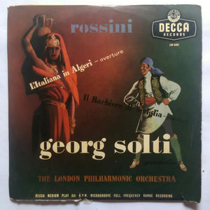 "Rossini "" Georg Solti "" The London Philharmonic orchestra "" ( Mini LP , 33/ RPM )"