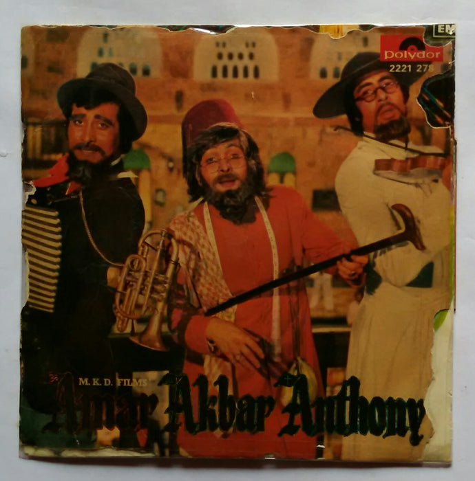 Amar Akbar Anthony ( EP 45 RPM ) Side A : Humko Ho Gaya Hai Pyar , Side B : My Name Is Anthony Gonsalves .
