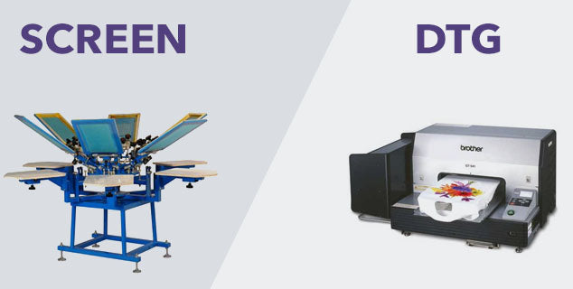 Screeen Printing vs Digital Printing