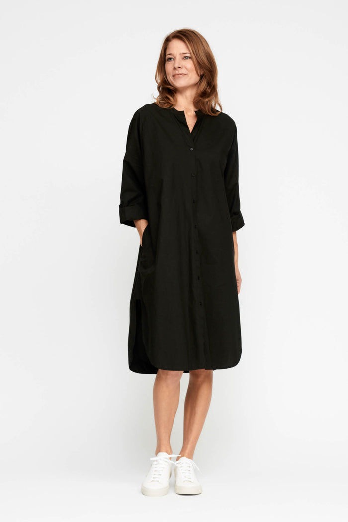Moshi Moshi Mind - Remain Shirtdress - Moonless Night