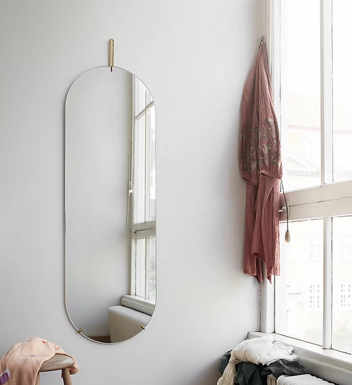 Moebe - Tall Wall Mirror - Brass