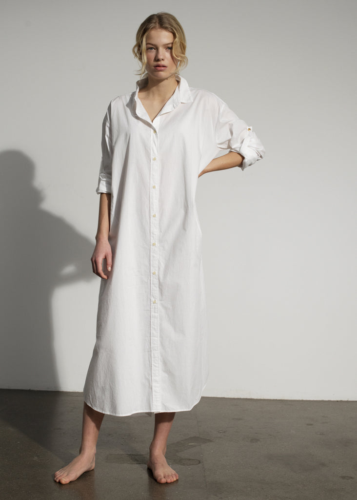 Aiayu - Shirt Robe - White